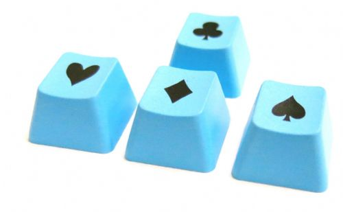 Tai-Hao ABS Double Shot Poker 4 Key Set Blue/Black